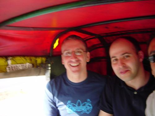 James & Adi in the autorickshaw