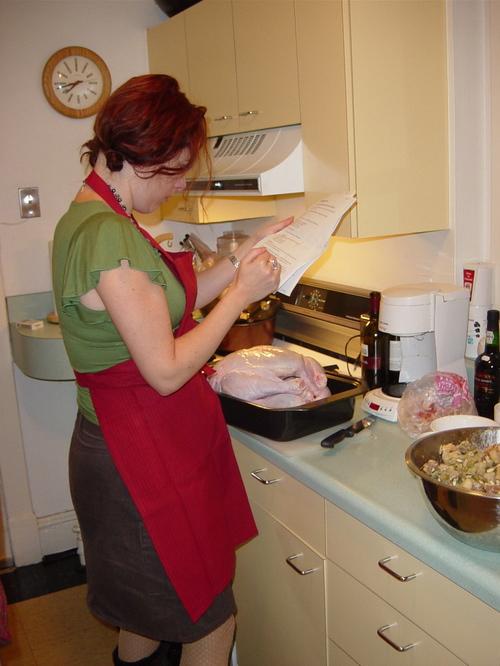 Deanna checking recipes