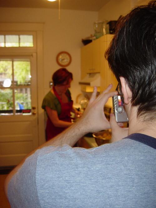 Tim shooting Deanna